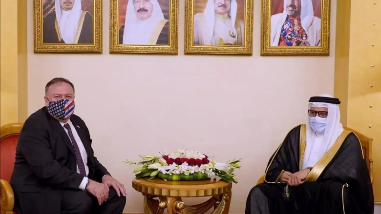 البحرين تؤكد لبومبيو ضرورة قيام دولة فلسطينية لتحقيق السلام