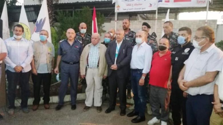 وقفة تضامنية في فوج إطفاء بيروت