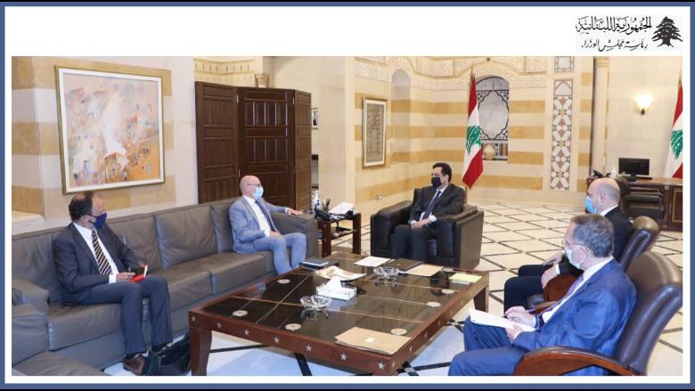 دياب عرض مع السفير الالماني الحاجات الملحة للبنان