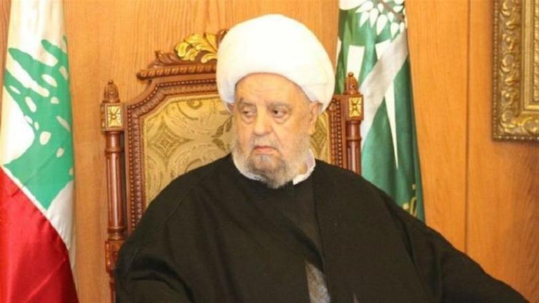 رئيس المجلس الإسلامي الشيعي الأعلى: لكشف ملابسات ما حدث في بيروت