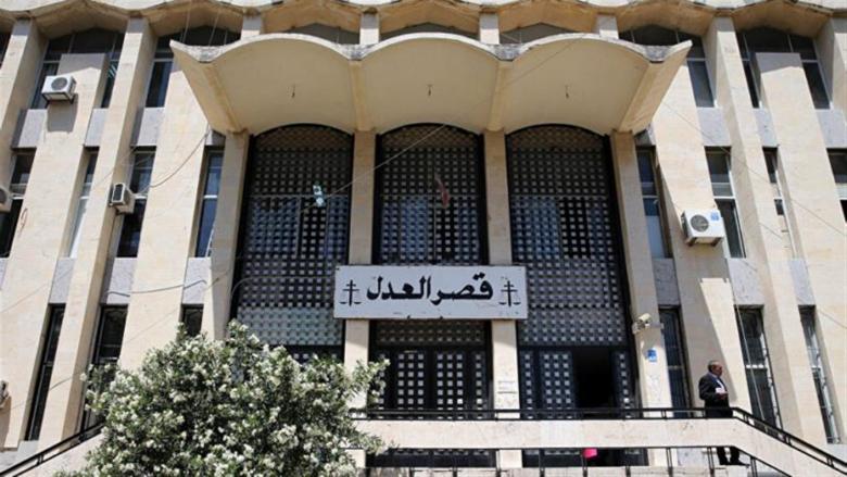 القاضي رزق الله تفقد الأضرار في عدلية بيروت