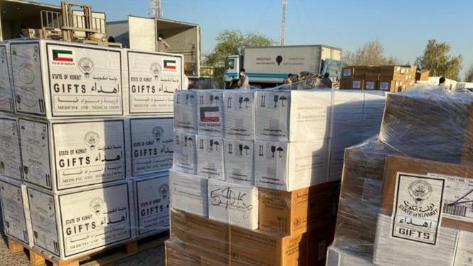 وصول طائرة مساعدات طبية مقدمة من دولة الكويت