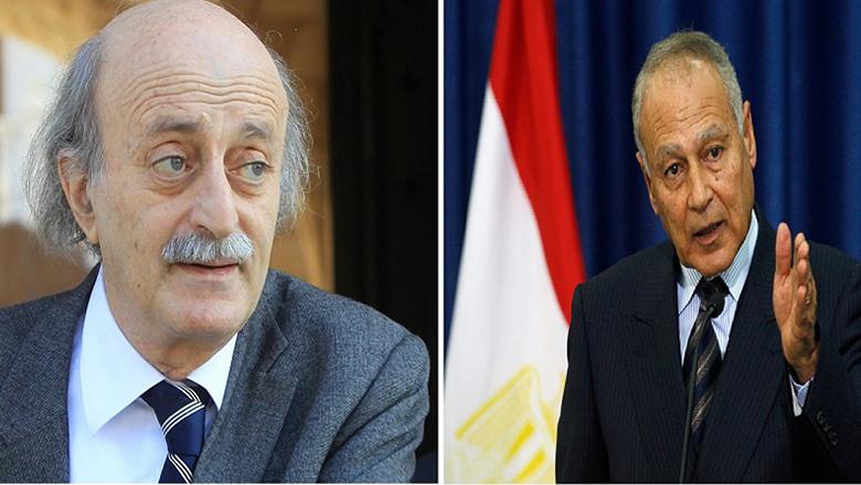 جنبلاط أكد لأبو الغيط أهمية الدعم والاحتضان العربي للبنان