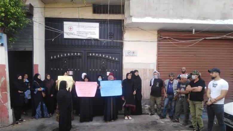 اعتصام في عين الحلوة لاهالي السجناء الفلسطينيين في رومية