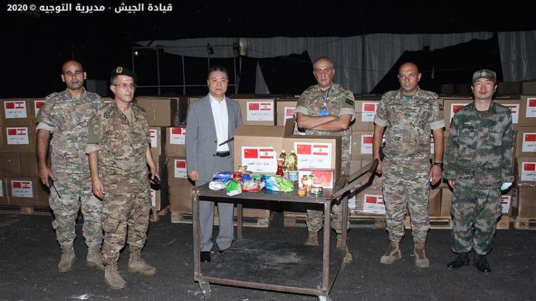 الجيش: استمرار وصول المساعدات الى لبنان