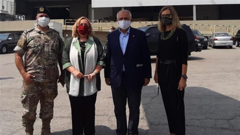مساعدات إيطالية للصليب الأحمر اللبناني لتوزيعها على مستشفيات