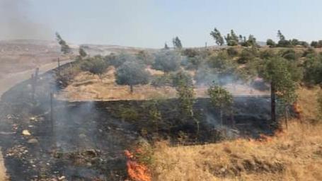 سلسلة حرائق في بلدات عكارية بسبب إرتفاع درجات الحرارة
