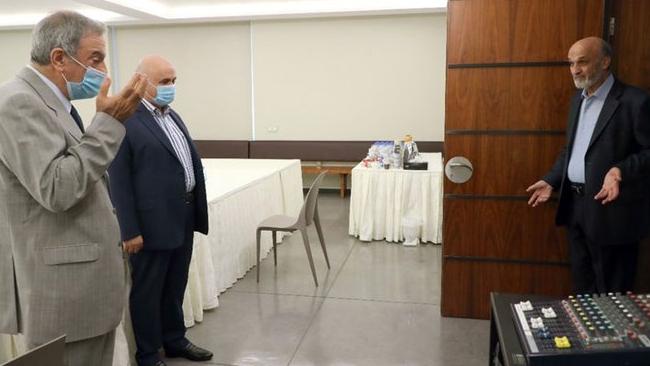 جعجع يلتقي سفير لبنان في الفاتيكان