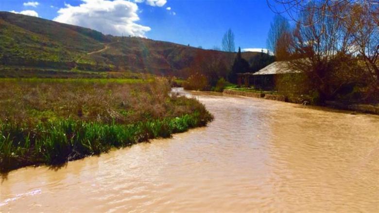 ارتفاع ملحوظ في منسوب نهر العاصي بسبب غزارة الأمطار
