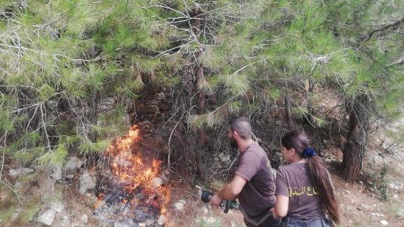 إخماد حريق في المرادية - كسروان