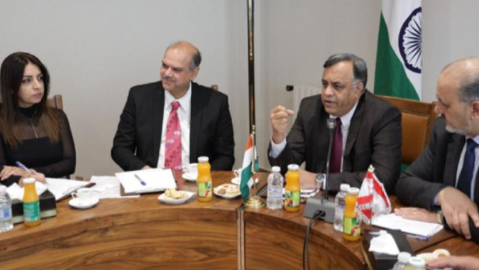 السفير الهندي يزور غرفة تجارة زحلة والبقاع