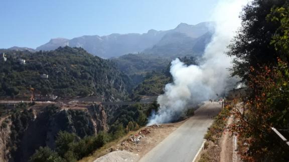 إخماد حريق في بلدة بقرصونا في الضنية