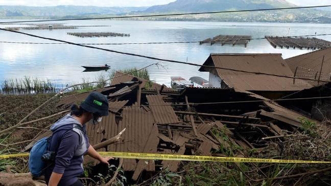 بالصور: زلزال يضرب جزيرة بالي في إندونيسيا