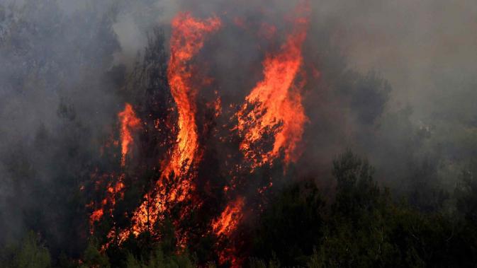 الدفاع المدني أخمد حريقاً في بخعون الضنية