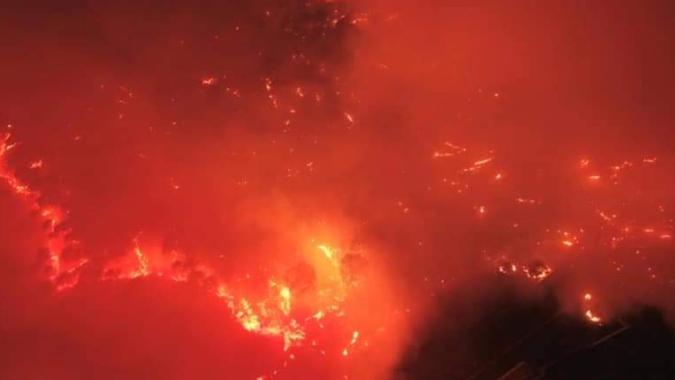 إخماد حريق بين القعقور وضهور الشوير