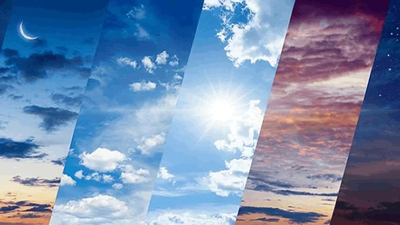 الطقس غداً قليل الغيوم من دون تعديل في الحرارة