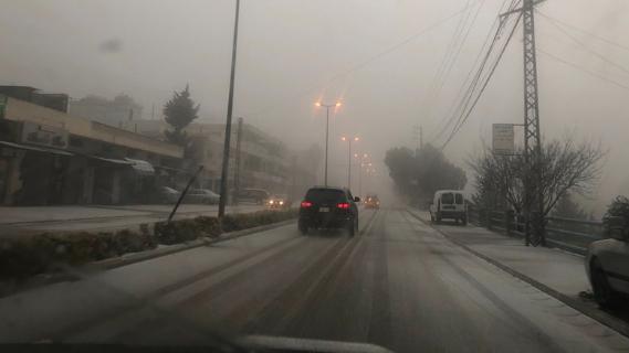 الثلج تساقط لأول مرة منذ سنين في قرى قضاء مرجعيون