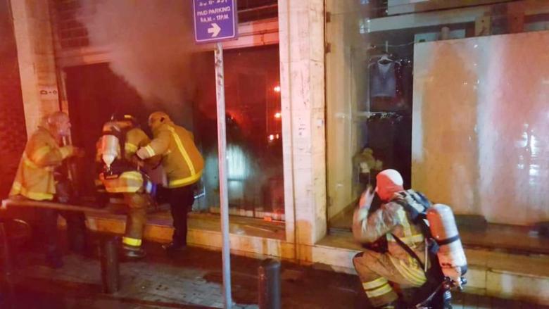 إخماد حريق داخل متجر لبيع الألبسة في جونية