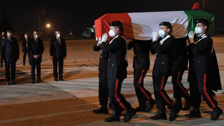 إيطاليا ودعت سفيرها في الكونغو وحارسه الشخصي
