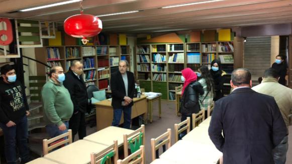 وفد من النادي الثقافي في برجا زار المكتبة الوطنية في بعقلين لتعزيز العمل الثقافي