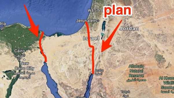 """خطة الولايات المتحدة لإيجاد بديل عن قناة """"السويس"""""""