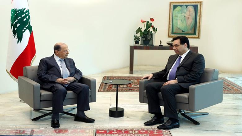 دياب يعارض مسعى عون إلى تعويم الحكومة ويحصر جلساتها في الموازنة