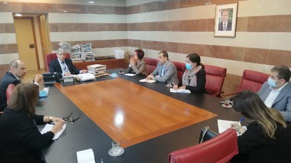 المجذوب استقبل سفير اسبانيا وعرض مع فليشر مشروع الغذاء المدرسي