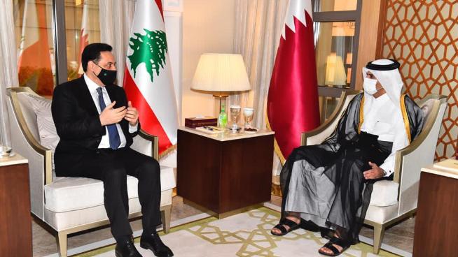 دياب لبى دعوة رئيس وزراء ووزير داخلية قطر إلى إفطار