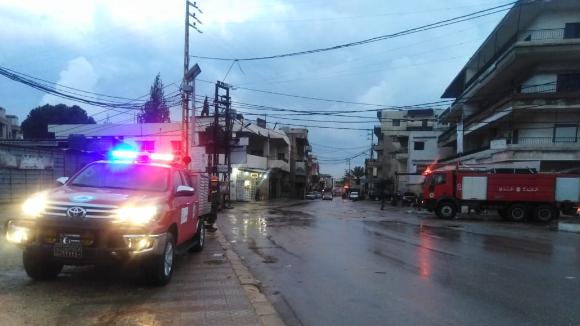 الدفاع المدني أخمد حريقا شب في محول كهربائي في ببنين