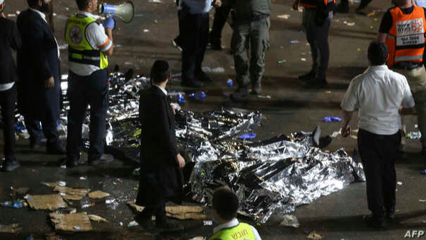 مقتل 44 إسرائيلياً في حادث تدافع وتزاحم