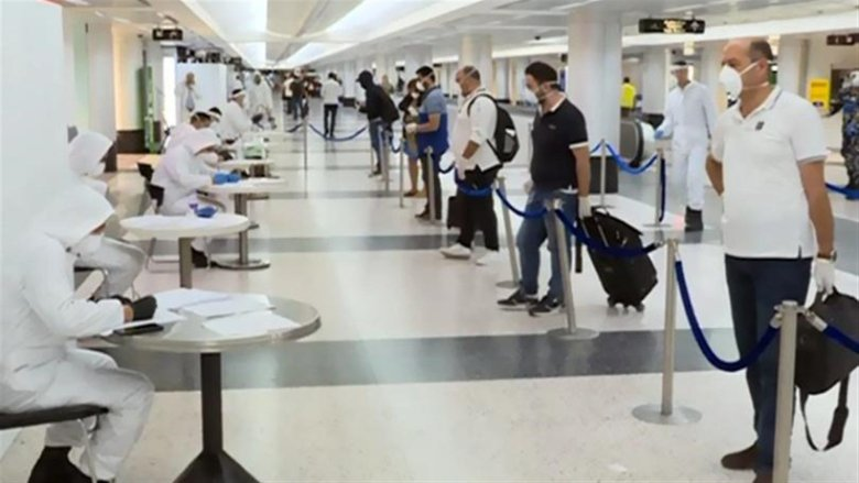 7 حالات إيجابية على رحلات وصلت إلى بيروت في اليومين الماضيين