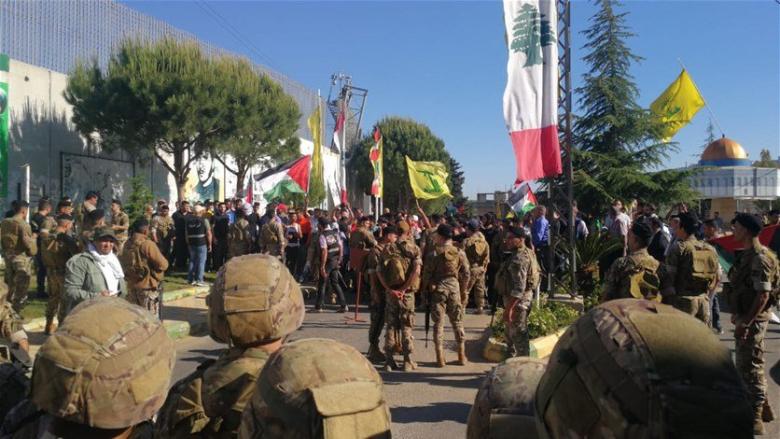 تدافع بين المتظاهرين والقوى الأمنية عند بوابة فاطمة