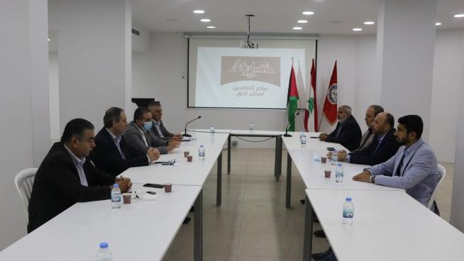 """لقاء مشترك لـ""""التقدمي"""" و""""حماس"""": لحشد كل الإمكانات والطاقات من أجل إسناد الشعب الفلسطيني"""