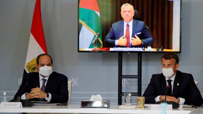 """الأردن ومصر وفرنسا يبحثون وساطة لـ""""وقف إطلاق النار"""""""