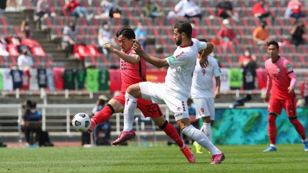 خسارة لبنان أمام كوريا الجنوبية في التصفيات المزدوجة للمونديال وكأس آسيا