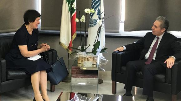وزني إستقبل المنسقة الخاصة للأمم المتحدة لدى لبنان وبحث معها الوضع الاقتصادي