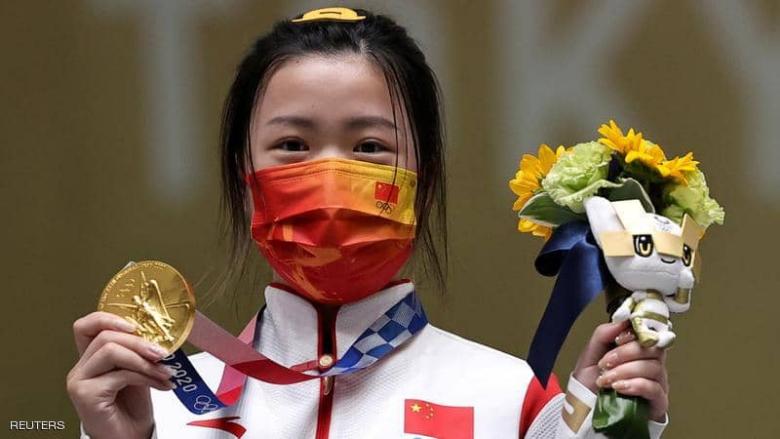 الصينية يانغ تفوز بأول ذهبية في أولمبياد طوكيو في الرماية