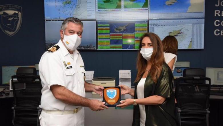 عكر إختتمت زيارتها الى قبرص بتفقد مركز البحث والإنقاذ