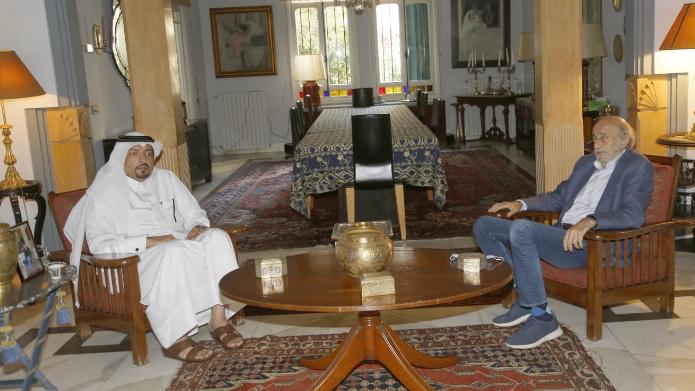 السفير القطري زار جنبلاط مودعاً