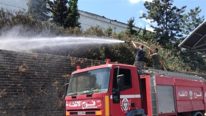 بالصّور: إخماد حريق داخل مرفأ بيروت