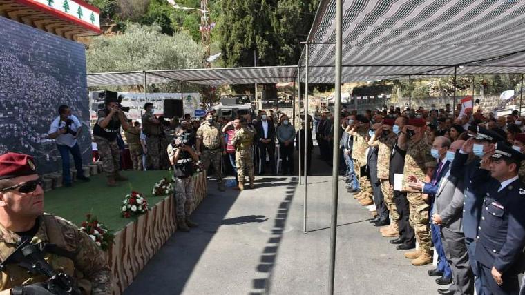 قائد الجيش من حاصبيا: المؤسسة العسكرية بمثابة العمود الفقري للبنان
