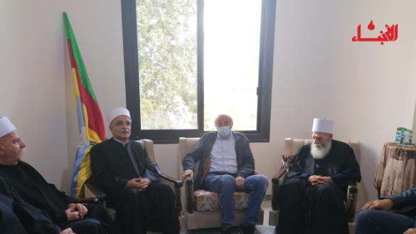 جنبلاط زار ابي المنى: سعيت للوفاق لآخر لحظة ومع الشيخ سامي هناك مهمات كبيرة