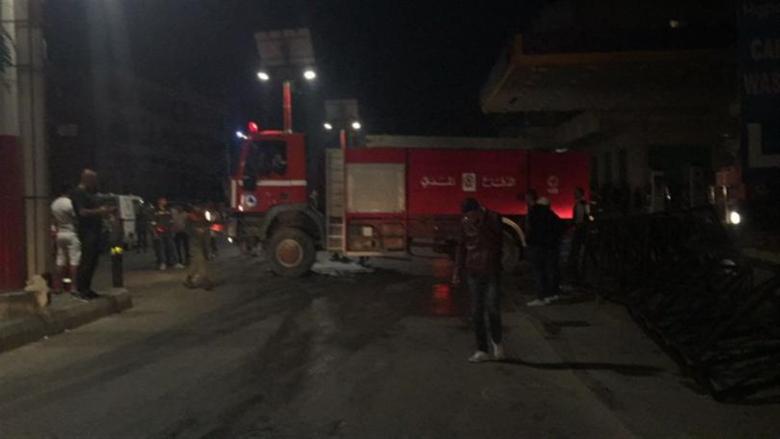 إخماد حريق داخل محطة محروقات في البقاع الغربي
