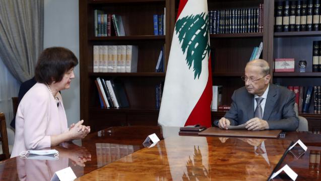 عون التقى المنسقة الخاصة للأمم المتحدة: سنعمل على معالجة ملف الكهرباء وإعادة إعمار مرفأ بيروت