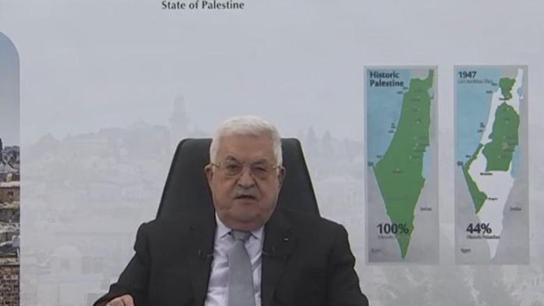 """الرئيس الفلسطيني: أمام """"إسرائيل"""" عام واحد كي تنسحب من الأراضي المحتلة"""