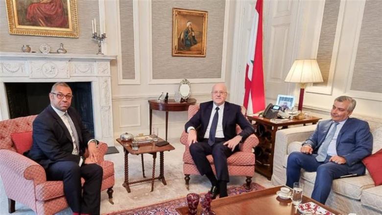 ميقاتي بحث مع وزير الدولة البريطاني لشؤون الشرق الأوسط في العلاقات الثنائية