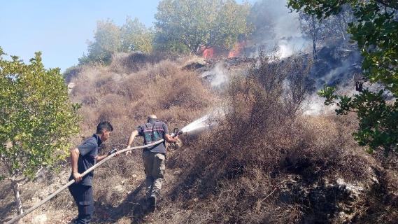إخماد حريق بين بدياس وبرج رحال قبل وصوله إلى المنازل
